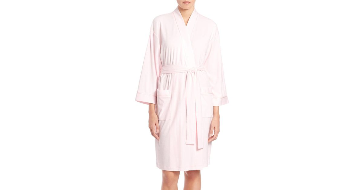 6b7092a4e1 Lyst - Cottonista Collection Pima Cotton Jersey Robe in Pink