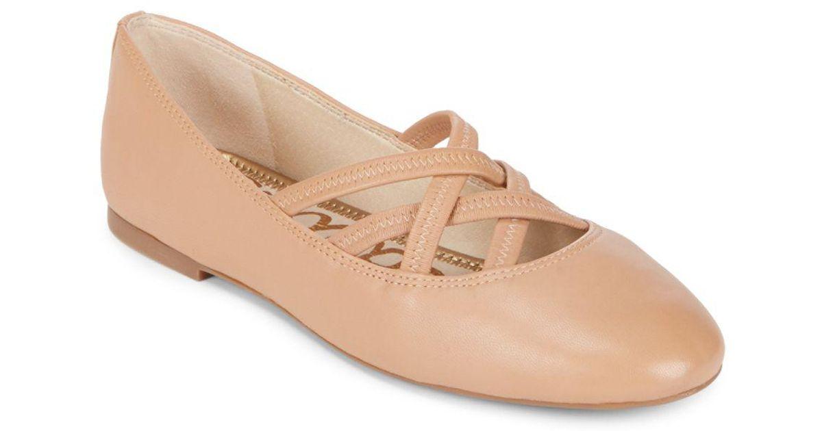 c491c29f984b3 Lyst - Sam Edelman Fredrick Ballet Flats in Natural