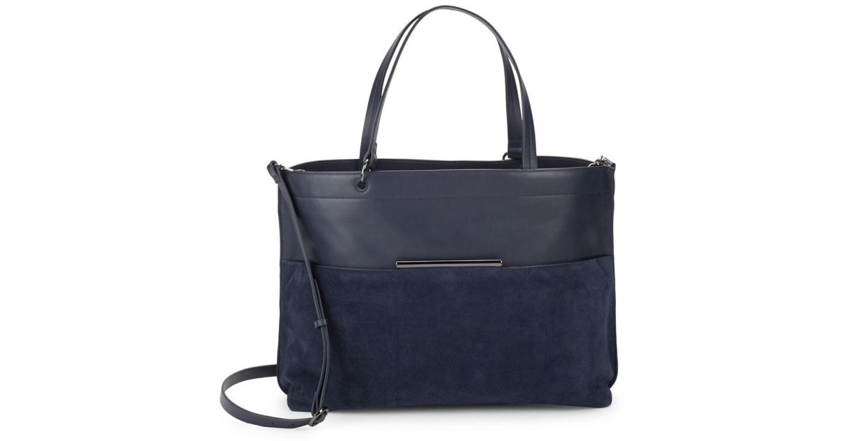 3cae1589d0 Lyst - Halston Versatile Leather Bag in Blue