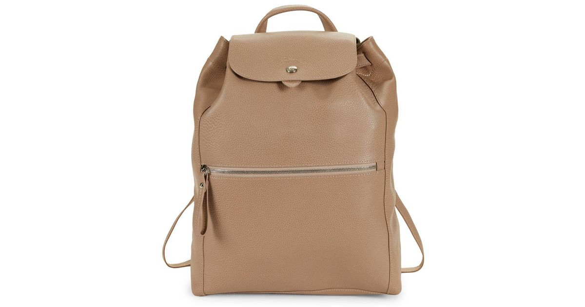 Longchamp Natural Le Foulonne Leather Backpack