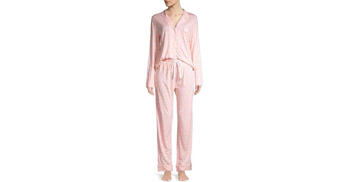 0658fc830d53 Lyst - Carole Hochman 2-piece Printed Pajama Set in Pink