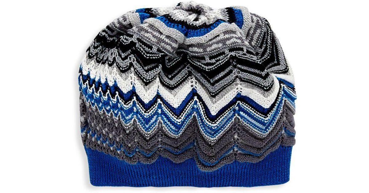1f68c65f954 Lyst - Missoni Dyed Knit Beanie in Blue