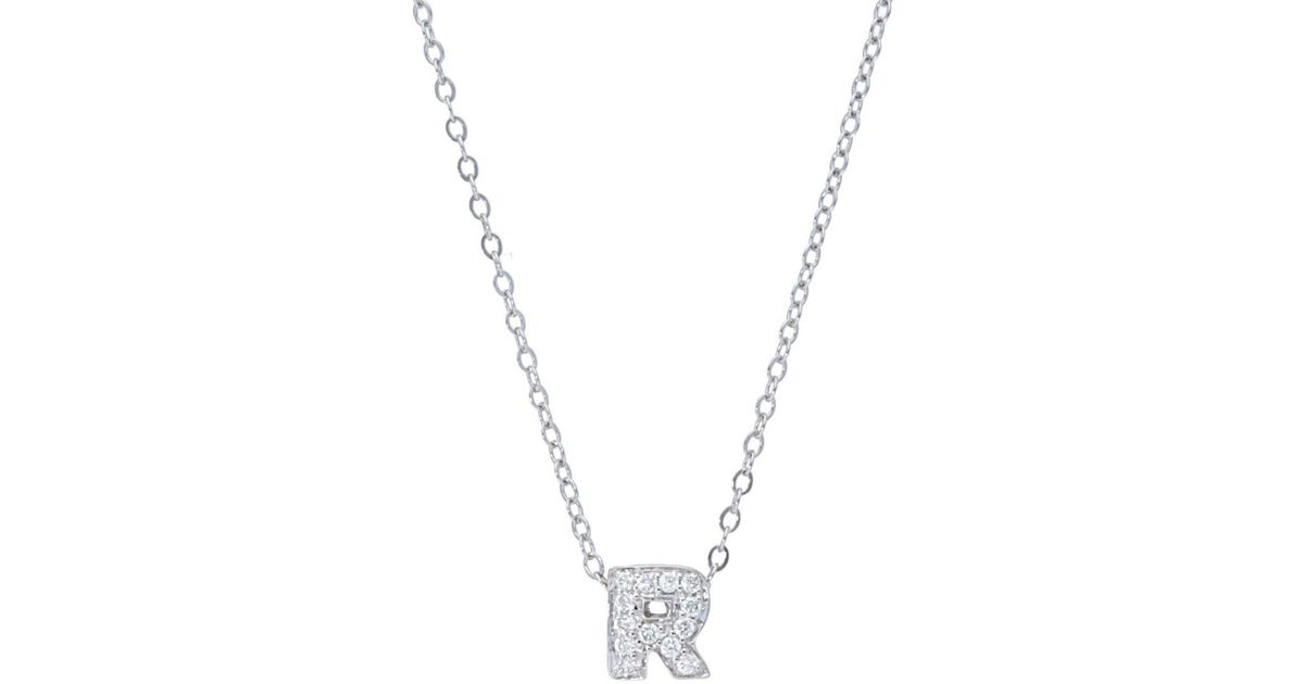 Lyst nephora diamond 14k white gold initial pendant necklace in lyst nephora diamond 14k white gold initial pendant necklace in metallic save 17 mozeypictures Choice Image