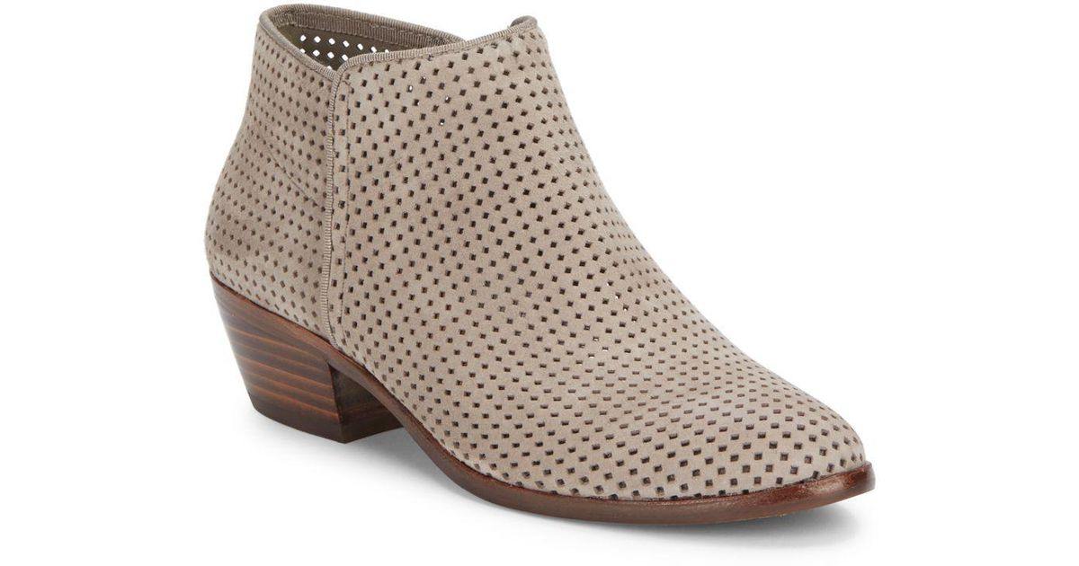 4926245b5d4251 Lyst - Sam Edelman Petty Leather Ankle Boots in Brown