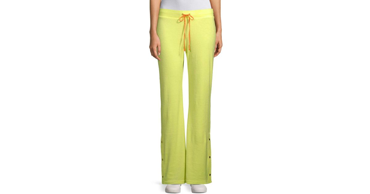 5e80cbb6790 Juicy Couture Del Rey Drawstring Tearaway Pants in Green - Lyst