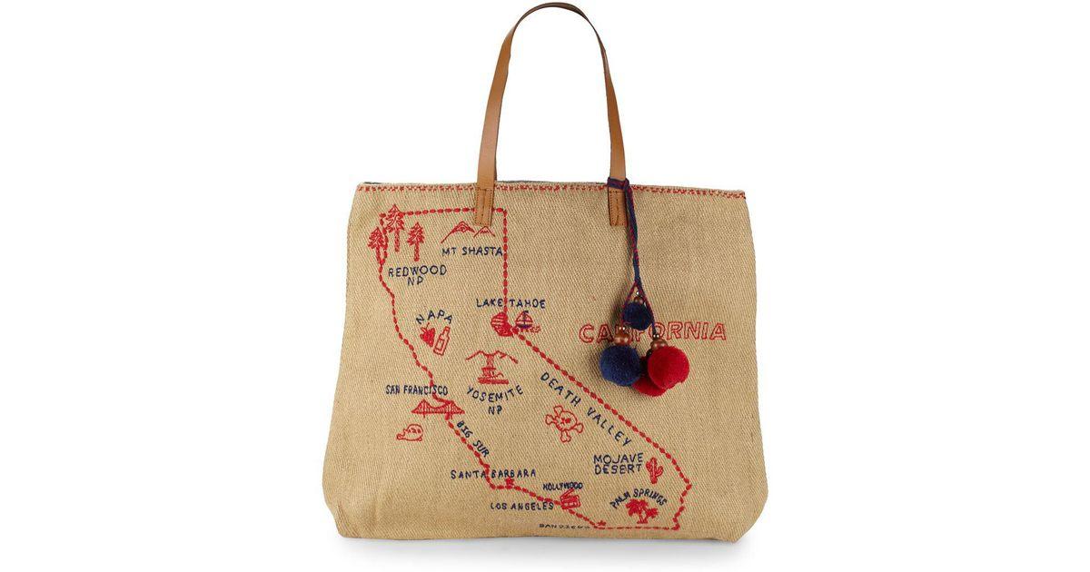 Star Mela Multicolor California Vacation Tote Bag