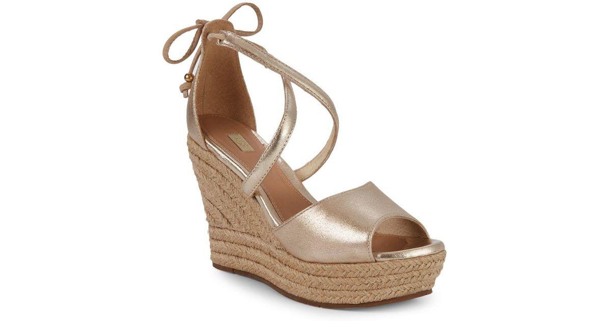 7d5b309855a Ugg Reagan Metallic (gold) Wedge Shoes