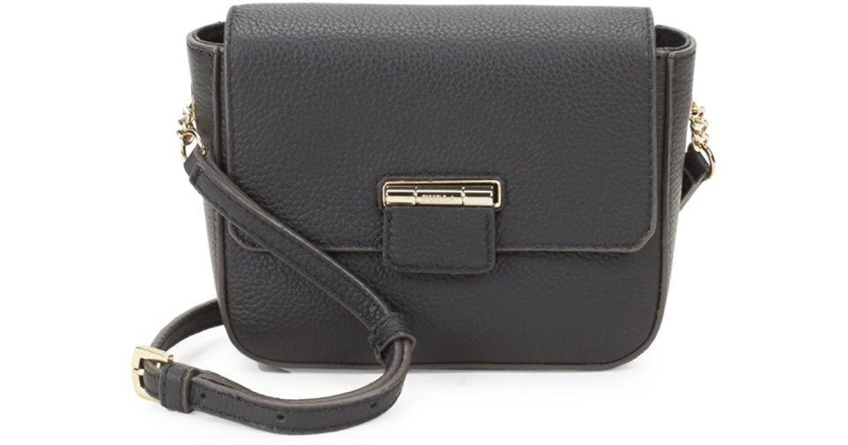 Mini Black Leather Crossbody Furla Flap Artesia Bag ZwOXukPiT