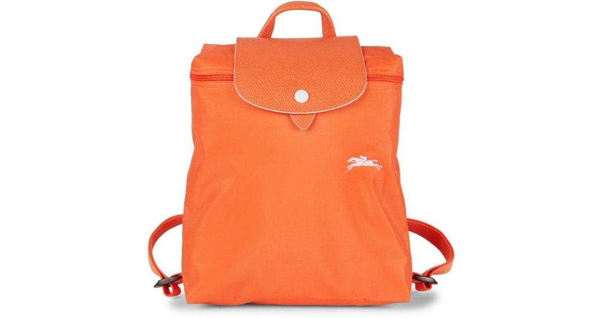 Longchamp Women's Le Pliage Club Nylon Foldable Backpack - Orange