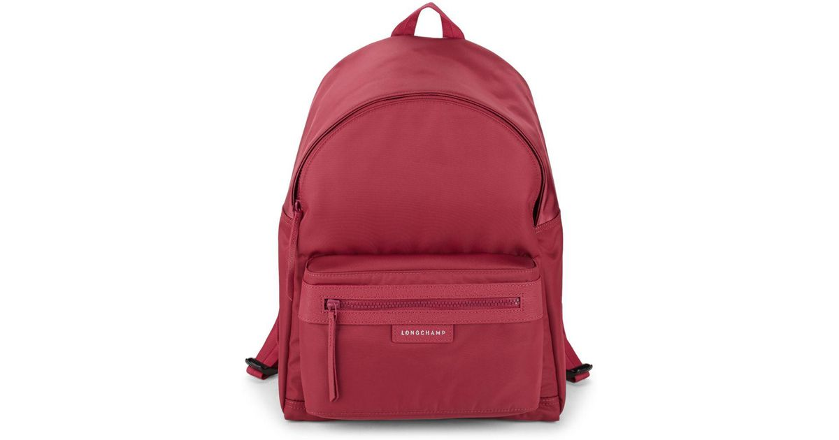 Deal Cheap Portable Longchamp Le Pliage Backpack Red
