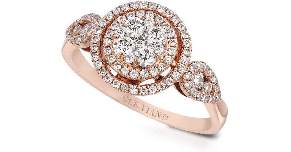 Lyst Le Vian Vanilla Diamonds 14k Strawberry Gold Ring In Metallic