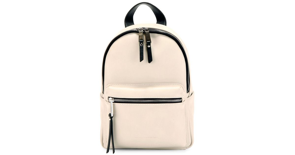 f03a19ef34db French Connection Perry Faux Leather Mini Backpack in Natural - Lyst