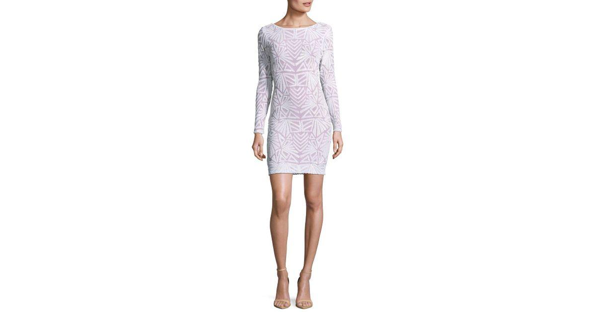 f7e2afe87a90 Dress the Population White Lola Art Deco Bodycon Dress