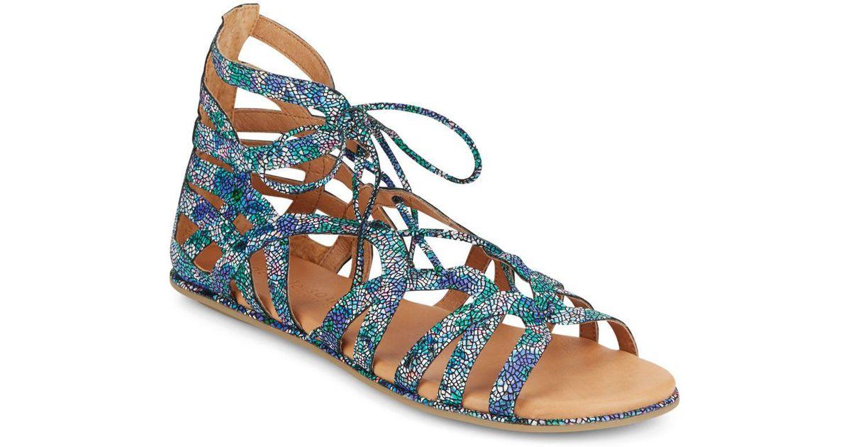 f03fb936a48 Lyst - Gentle Souls Break My Heart Lace-up Sandals in Blue