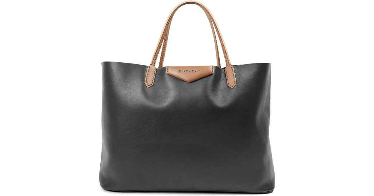37f375045299 Lyst - Givenchy Antigona Large Two-tone Leather Tote in Black