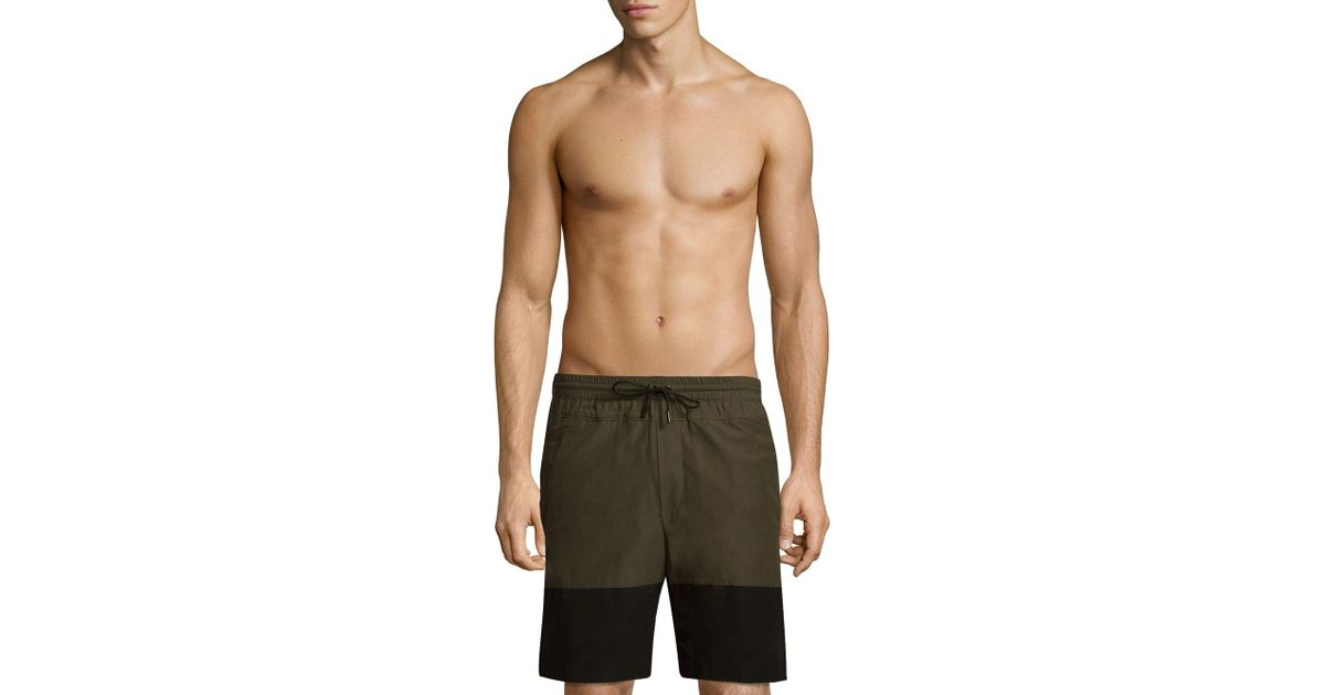 dbbbbd34d2 Public School Quint Swim Shorts in Green for Men - Save 40% - Lyst
