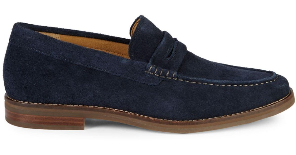 Sperry Top-Sider Gold Cup Exeter Suede Penny Loafers in ...