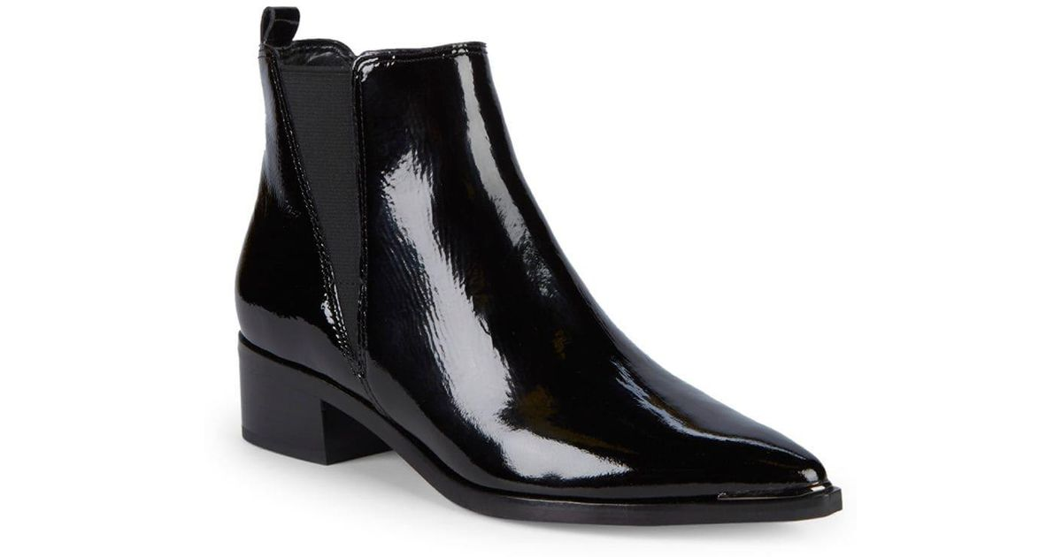 Marc Fisher Yale Patent Leather Booties