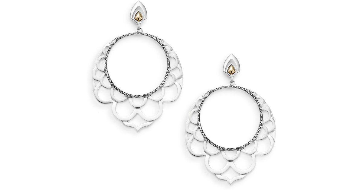 John Hardy Naga Silver Lace Hoop Earrings 8h20Wvi
