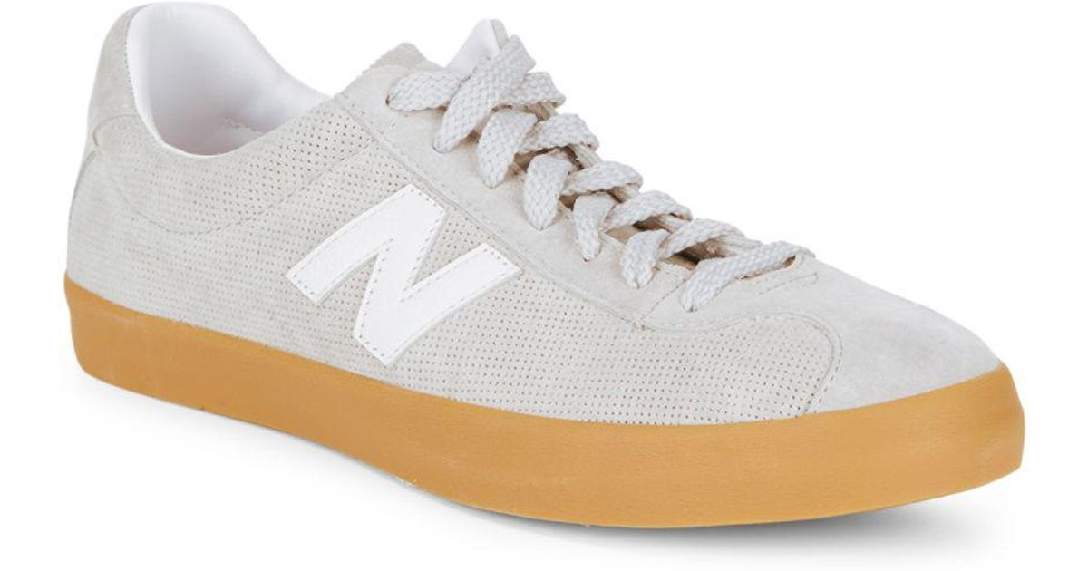 13d8bf5dfb19e New Balance Tempus Suede Gum Sole Sneakers in Gray - Lyst