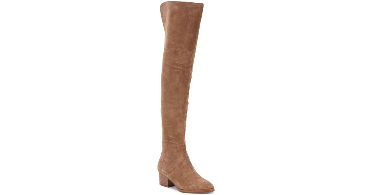 19ed11db058 Lyst - Via Spiga Ophira Over-the-knee Suede Boots in Blue
