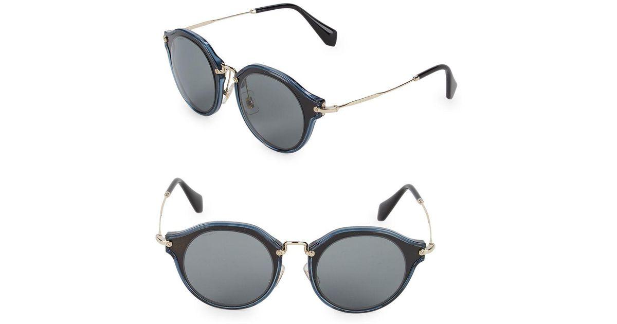 3b15ddd9 Miu Miu Metallic Two-tone 49mm Professor Sunglasses