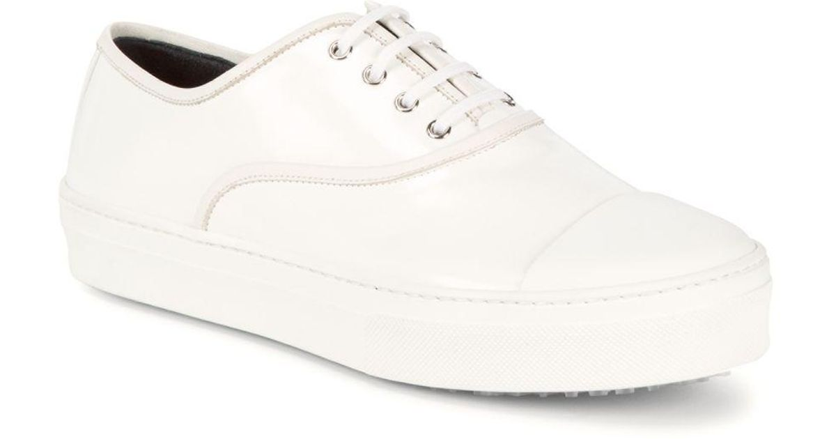 Celine Leather Low-top Sneakers in