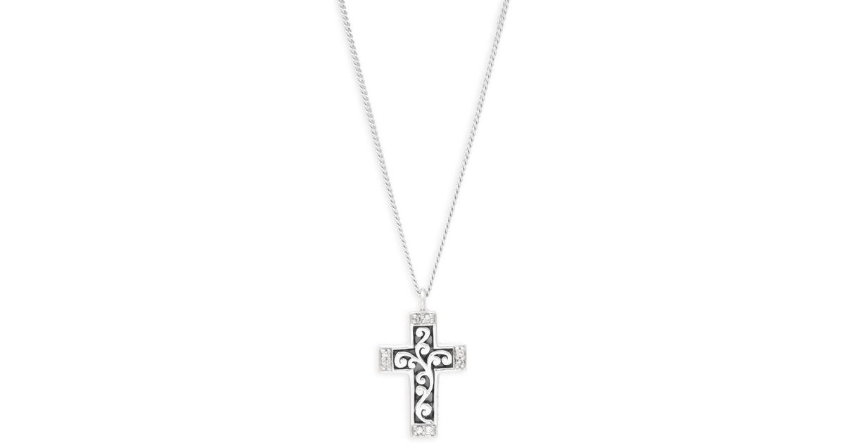 Lyst lois hill diamond and sterling silver cross pendant necklace lyst lois hill diamond and sterling silver cross pendant necklace in metallic aloadofball Image collections