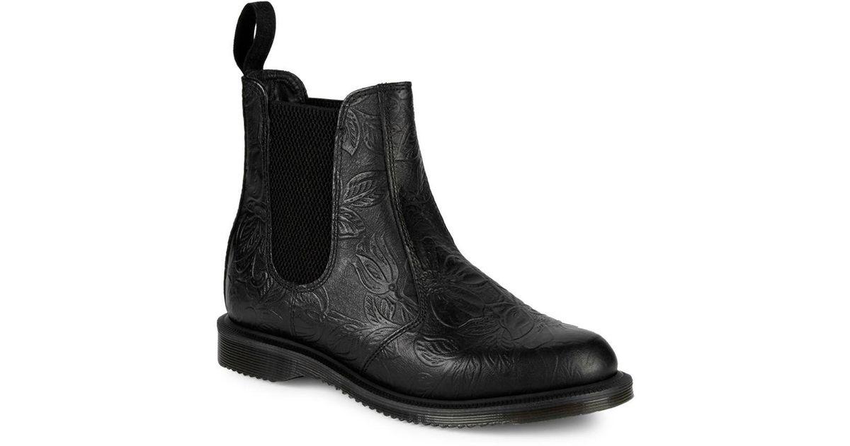 70198fd654c Dr. Martens Black Flora Embossed Chelsea Boots