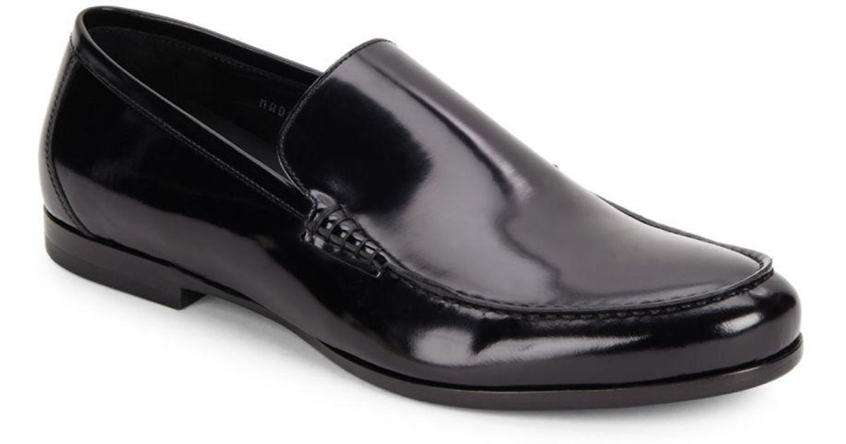 93c75940dd4 Lyst - Harry s Of London Alec Gloss Calf Loafers in Black for Men