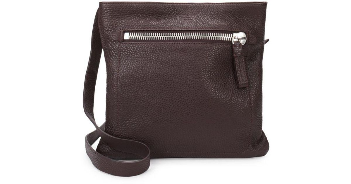 a98530ac754fe Giorgio Armani Leather Crossbody Bag - Lyst