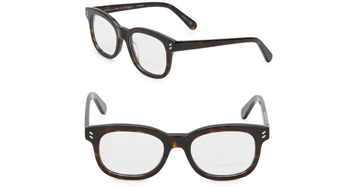 d9906d080d Lyst - Stella McCartney 50mm Tortoise Shell Optical Glasses