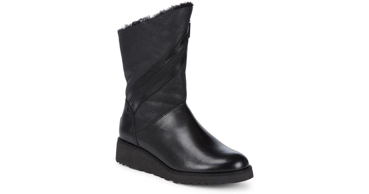 4b9ef5dc9e9 Ugg Black Lorna Demi Wedge Boots