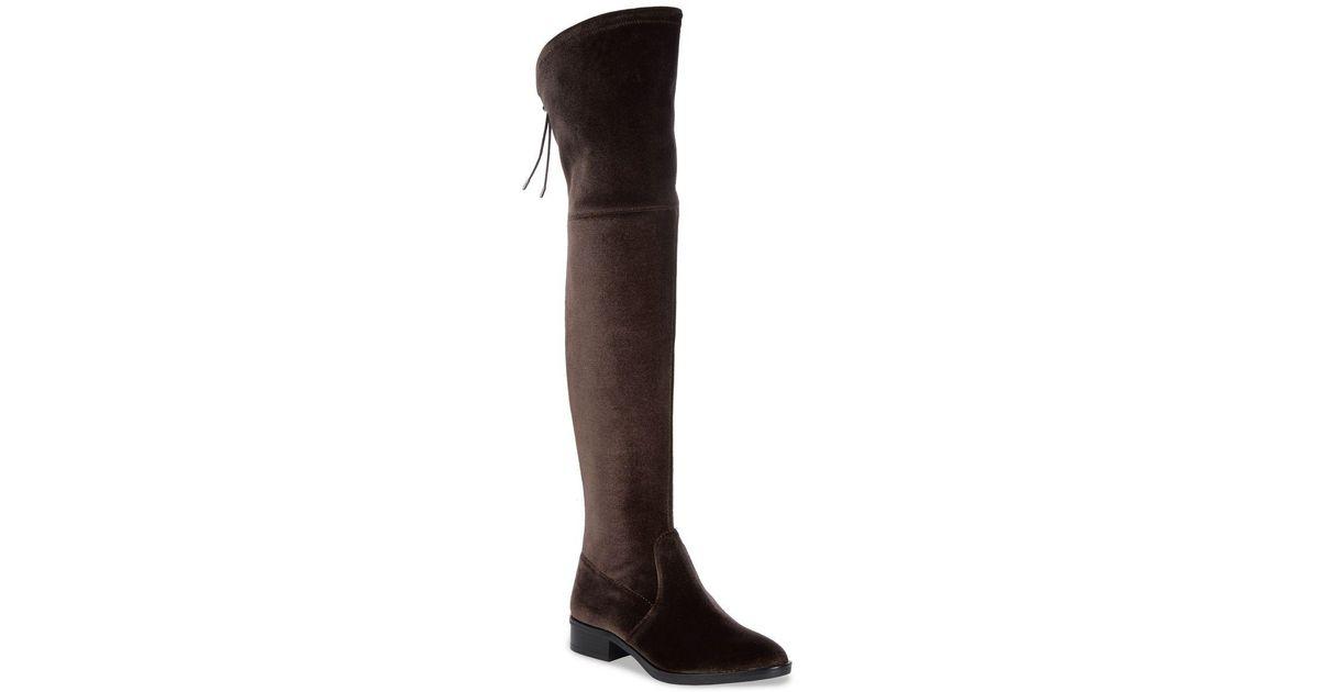 005992b87d0128 Lyst - Sam Edelman Long Velvet Adjustable Boots in Gray