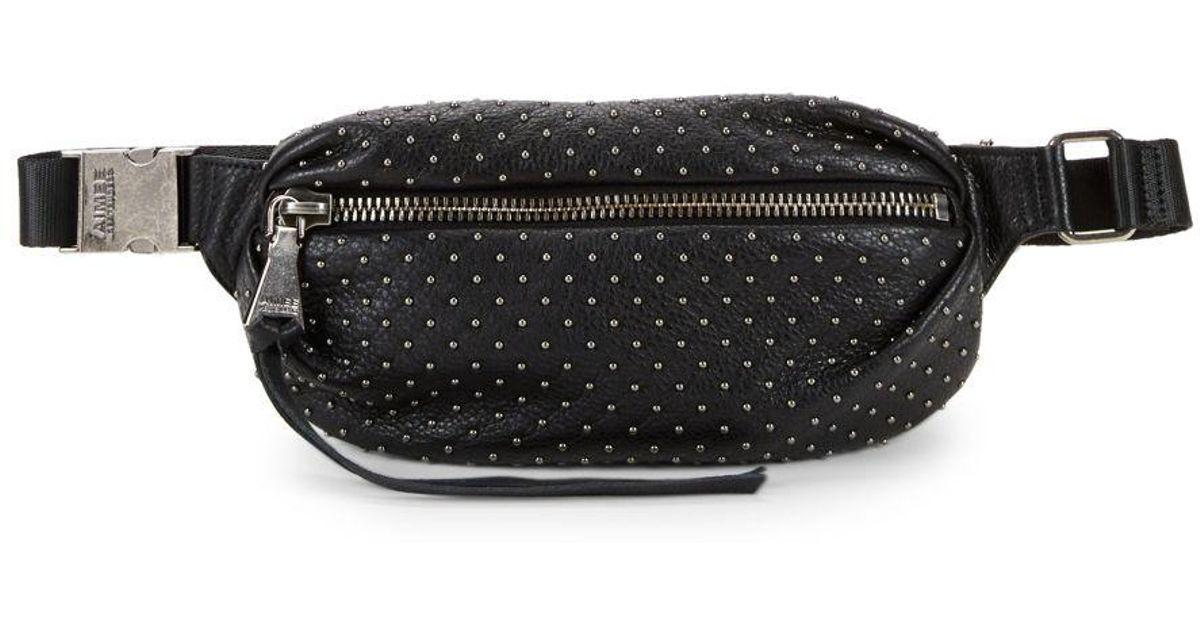 21d958b18799 Aimee Kestenberg Black Studded Leather Fanny Pack