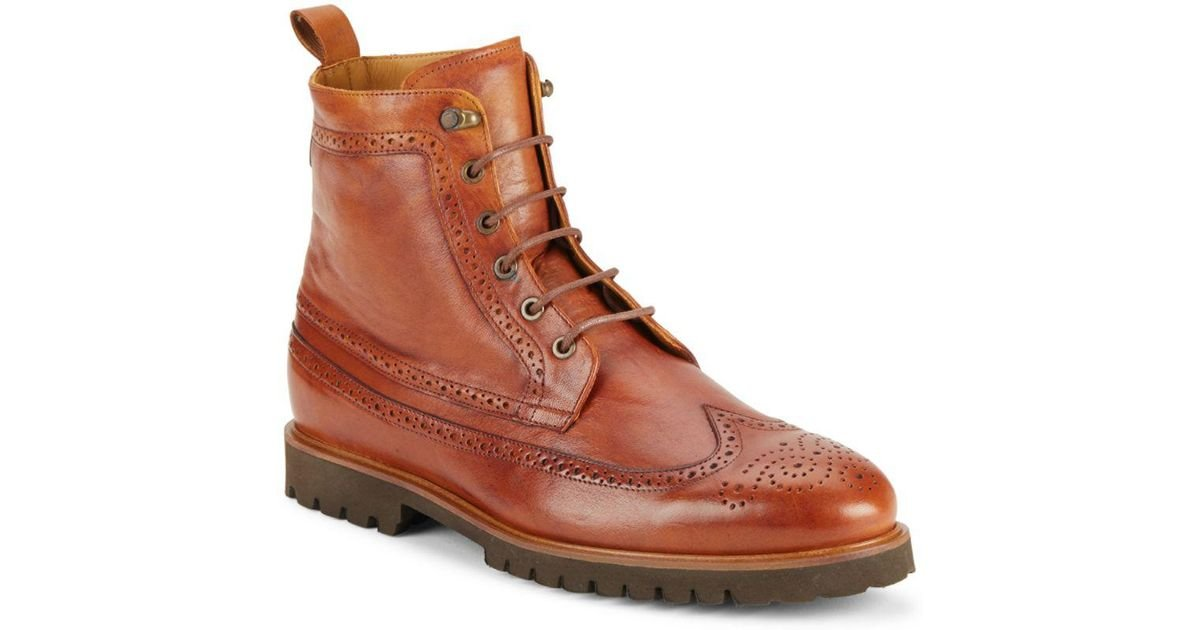 9d6448acea4 Lyst - Vince Camuto High-top Leather Boots in Brown for Men - Save 20%