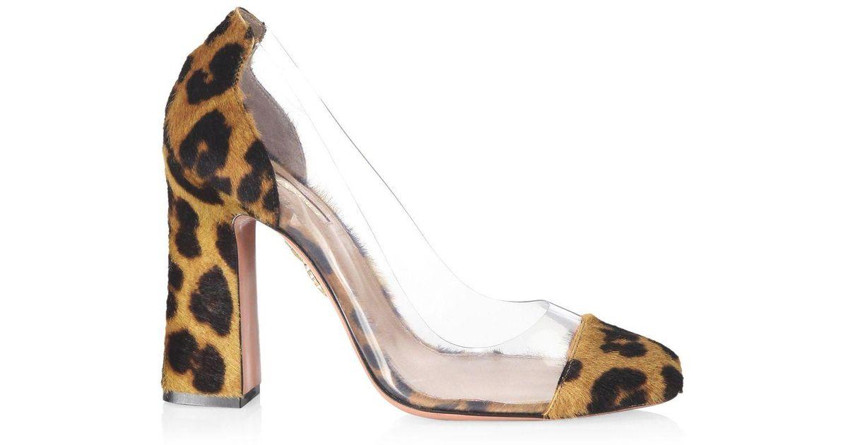 aquazzura leopard pumps
