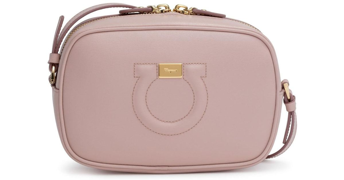 Lyst - Ferragamo Gancio City Light Pink Cross Body Bag in Pink d71bfd1c3f2f3
