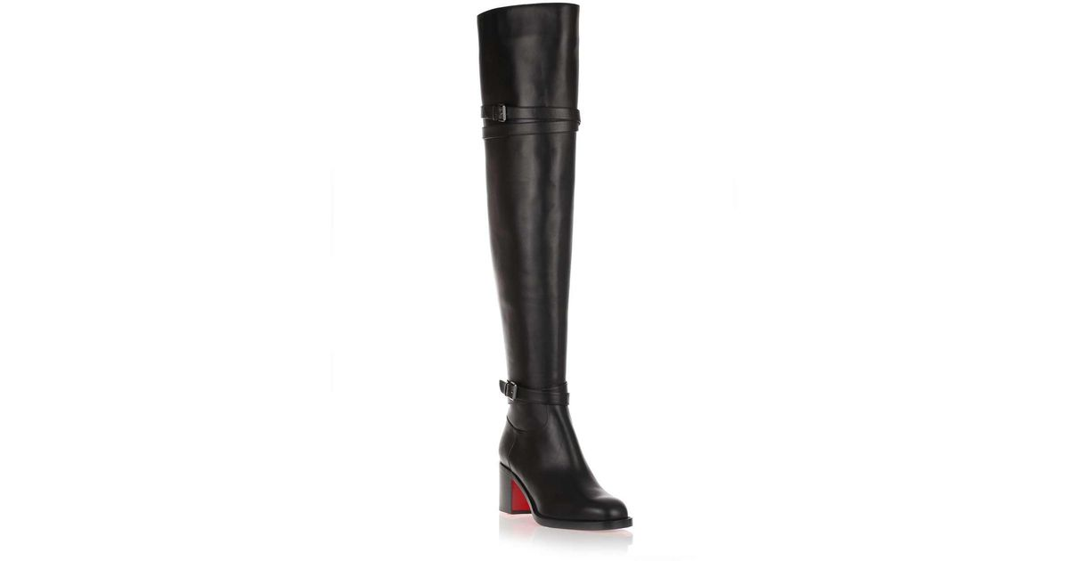 f61beb1f443 Christian Louboutin Karialta 70 Black Leather Over-the-knee Boot Us