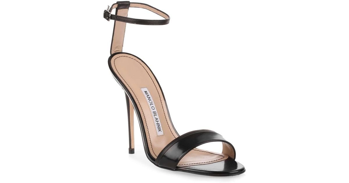 Spezia 115 beige leather sandal Manolo Blahnik
