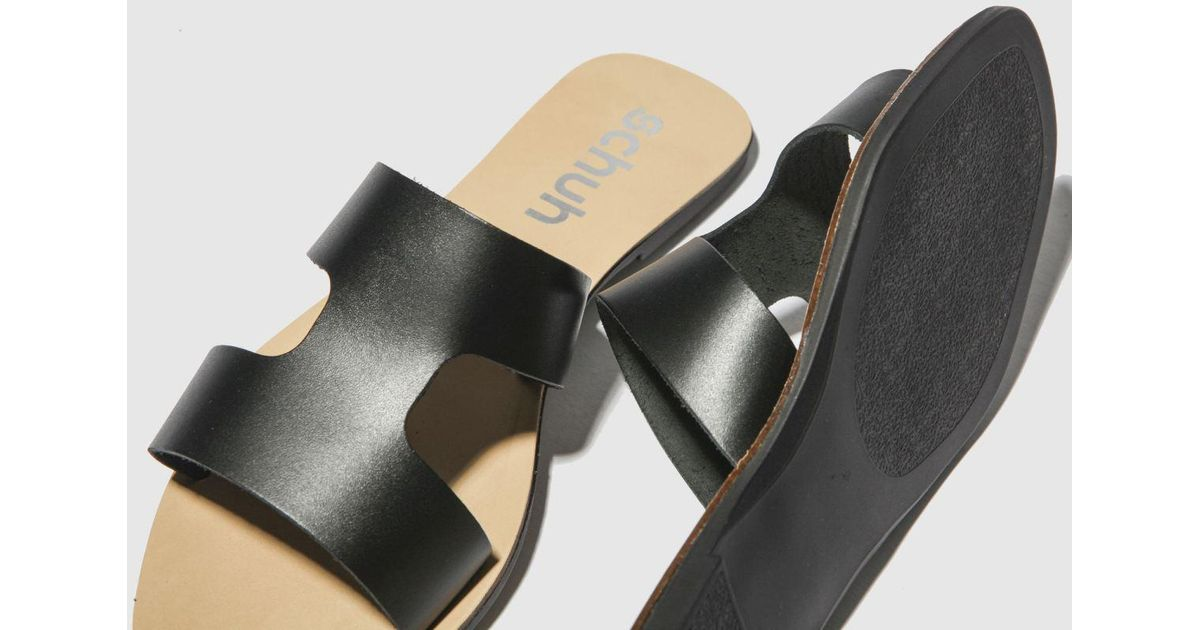 excellent quality cheapest online here Schuh Leather Mallorca Sandals in Black - Lyst