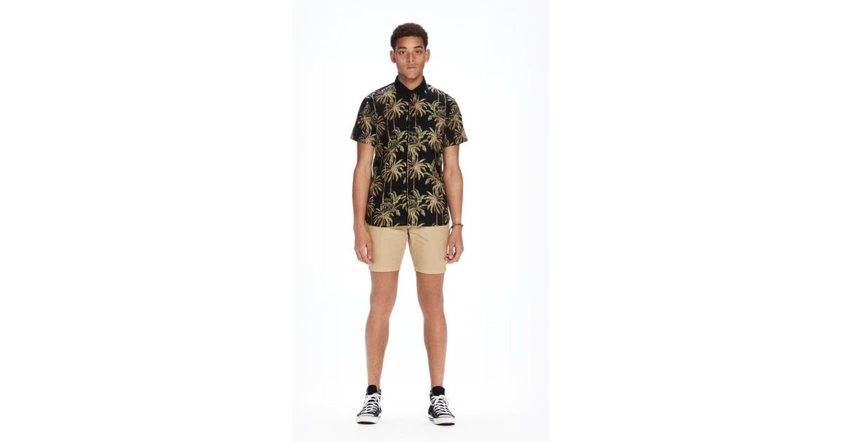Scotch /& Soda Mens The Pool Side All-Over Printed Shirt with Contrast Collar