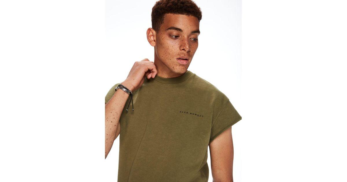 Scotch /& Soda Mens Sweat T-Shirt Green Sleeveless New Club Nomade 142070