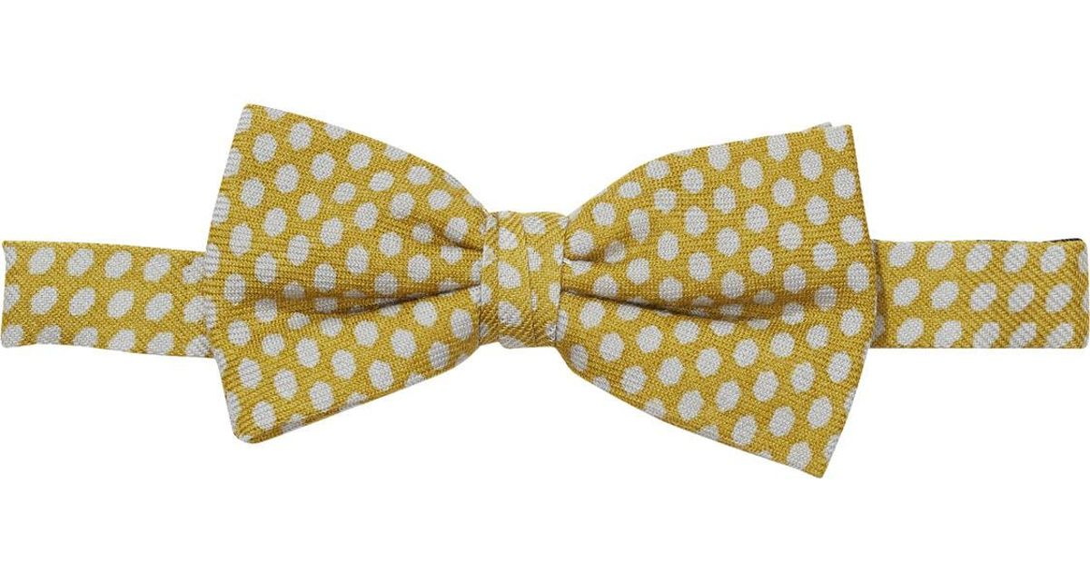 Lyst Scotch Soda Knitted Bow Tie In Yellow For Men