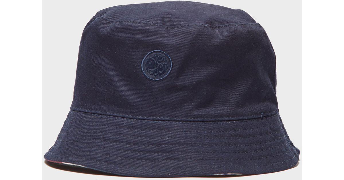 Lyst - Pretty Green Union Jack Reversible Bucket Hat in Blue for Men 1059fbaf9fde