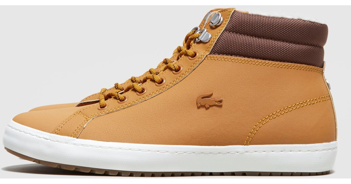 Lacoste Leather Straightset Thermo Boot For Men Lyst