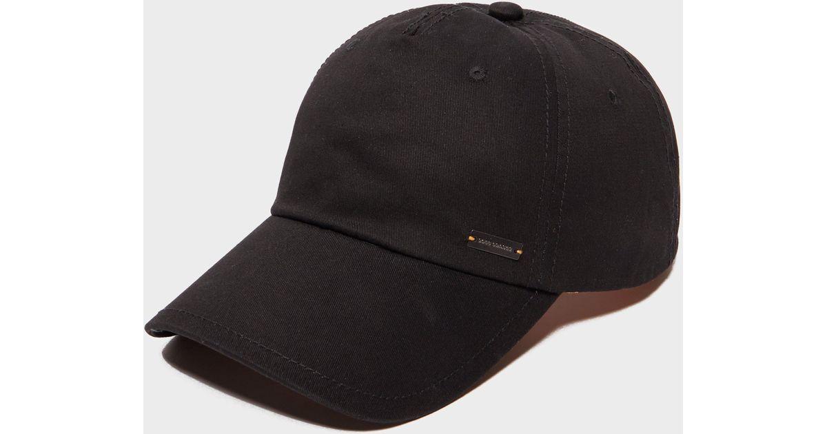 Lyst - BOSS Orange Forano Cap in Black for Men 3b5532e7bd43