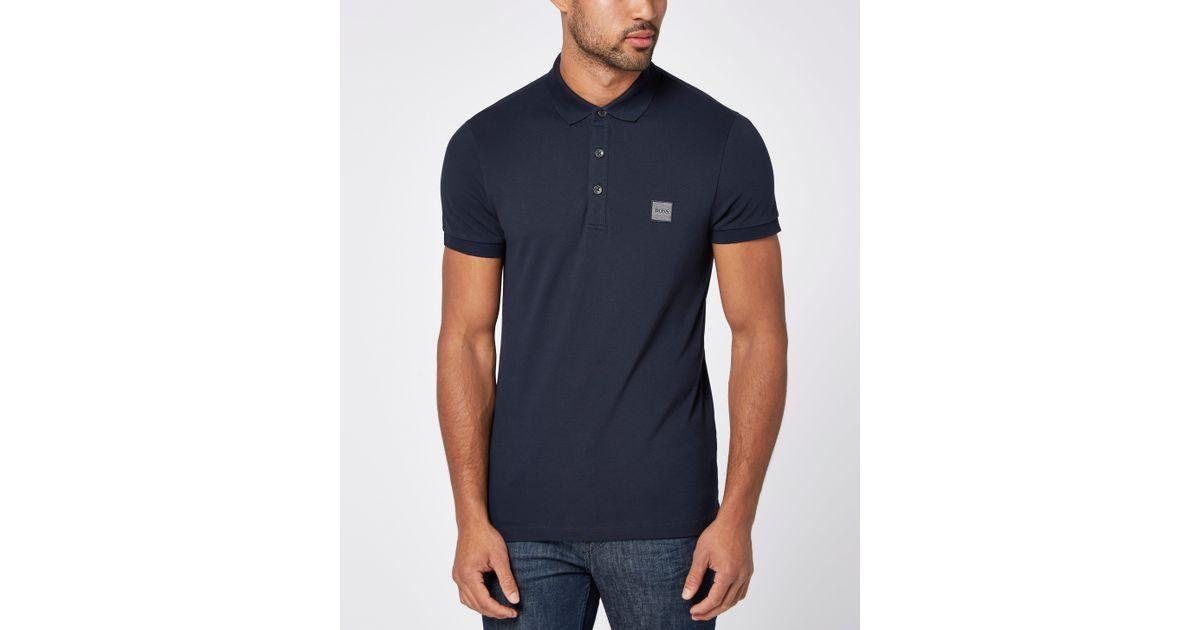 15eb33e4 Boss Orange Pavlik Short Sleeve Polo Shirt in Blue for Men - Lyst