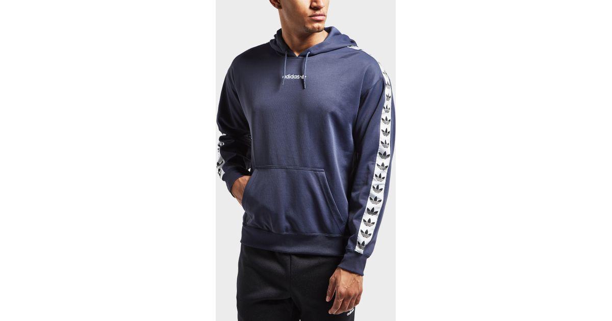 Adidas Originals Blue Overhead Tape Hoodie for men