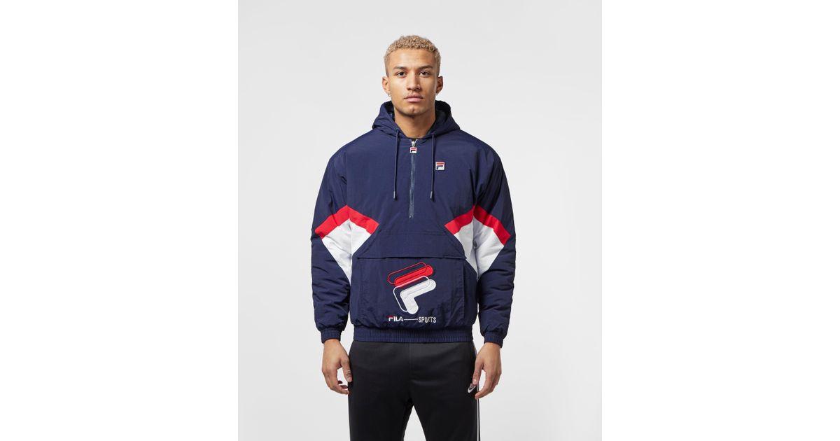 Fila Blue Colour Block Shell Half Zip Jacket for men